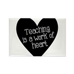 Teacher Heart Rectangle Magnet (10 pack)