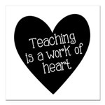 Teacher Heart Square Car Magnet 3