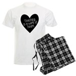 Teacher Heart Men's Light Pajamas
