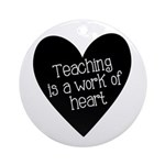 Teacher Heart Ornament (Round)