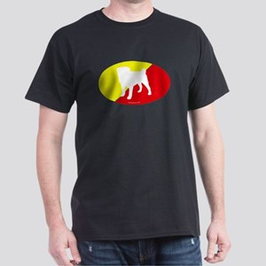 China Flag Pug Dark T-Shirt