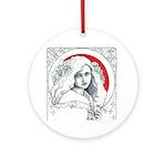 Alice Nouveau Ornament (Round)