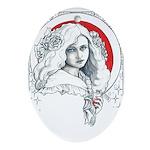 Alice Nouveau Ornament (Oval)