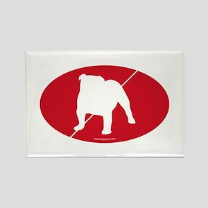 England Flag Bulldog Rectangle Magnet