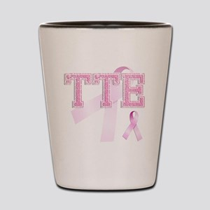 TTE initials, Pink Ribbon, Shot Glass