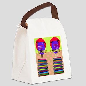 FF Ret Librarian bird 3 Canvas Lunch Bag