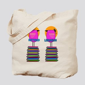 FF Ret Librarian Bird 4 Tote Bag