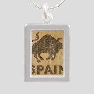 Spain Silver Portrait Necklace