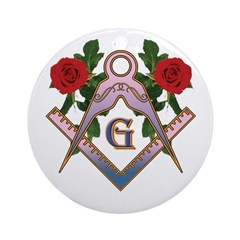 Roses for the Lady Ornament (Round)