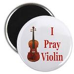 I Pray Violin Magnet