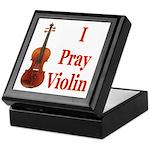 I Pray Violin Keepsake Box
