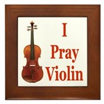 I Pray Violin Framed Tile