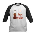 I Pray Violin Kids Baseball Jersey