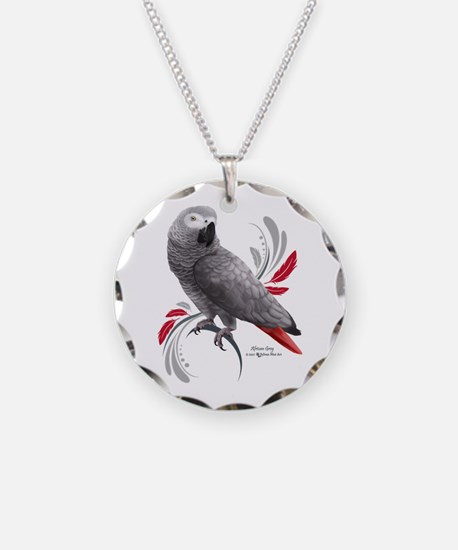 African Grey Parrot Necklace