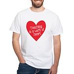 Red Teacher Heart White T-Shirt