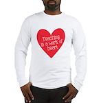 Red Teacher Heart Long Sleeve T-Shirt