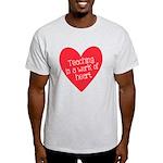 Red Teacher Heart Light T-Shirt