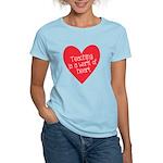 Red Teacher Heart Women's Light T-Shirt
