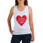Red Teacher Heart Women's Tank Top