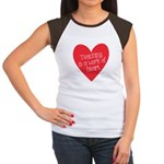 Red Teacher Heart Women's Cap Sleeve T-Shirt