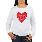 Red Teacher Heart Women's Long Sleeve T-Shirt