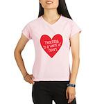 Red Teacher Heart Performance Dry T-Shirt