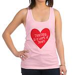 Red Teacher Heart Racerback Tank Top