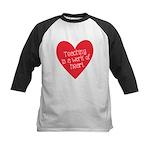 Red Teacher Heart Kids Baseball Jersey
