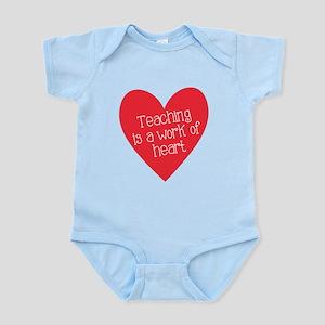Red Teacher Heart Infant Bodysuit