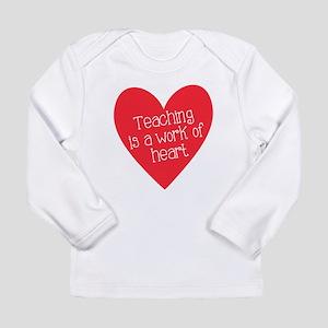Red Teacher Heart Long Sleeve Infant T-Shirt