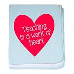 Red Teacher Heart baby blanket