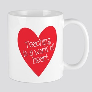 Red Teacher Heart Mug