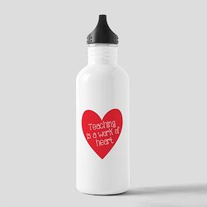 Red Teacher Heart Stainless Water Bottle 1.0L