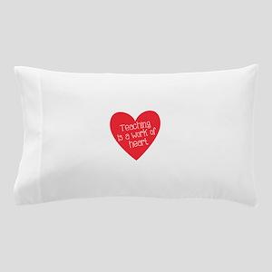 Red Teacher Heart Pillow Case