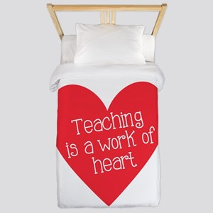 Red Teacher Heart Twin Duvet