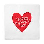 Red Teacher Heart Queen Duvet