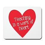 Red Teacher Heart Mousepad