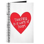 Red Teacher Heart Journal