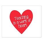Red Teacher Heart Small Poster