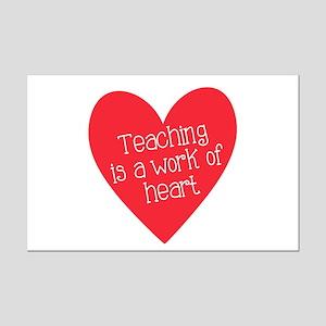 Red Teacher Heart Mini Poster Print