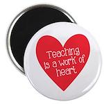 Red Teacher Heart Magnet
