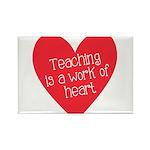 Red Teacher Heart Rectangle Magnet (100 pack)