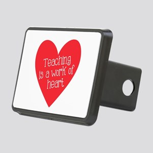 Red Teacher Heart Rectangular Hitch Cover