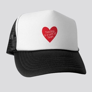 Red Teacher Heart Trucker Hat