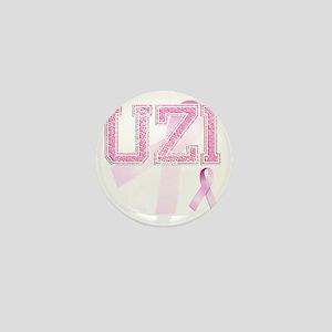 UZI initials, Pink Ribbon, Mini Button