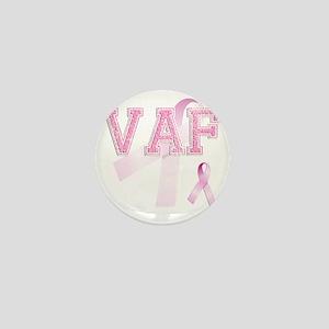 VAF initials, Pink Ribbon, Mini Button