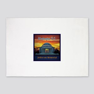 Jefferson Memorial 5'x7'Area Rug