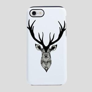 Classic Stag Deer Head Black G iPhone 7 Tough Case