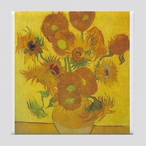 Sunflowers In a Vase - Van Gogh - c1888 Tile Coast