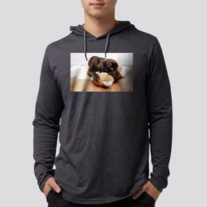 labrador-dog-cuddling-with-ted Long Sleeve T-Shirt